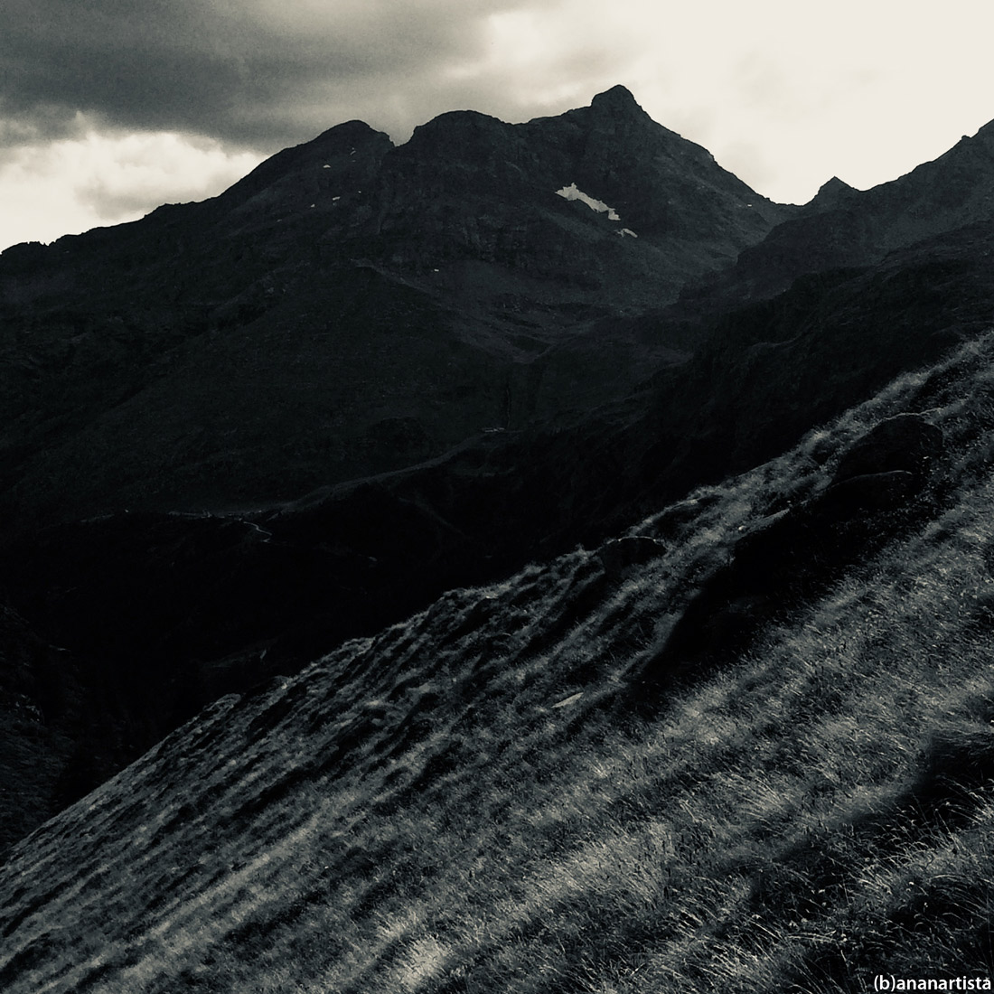 pastoral poetry alps landscape black and white photography by (b)ananartista sbuff art