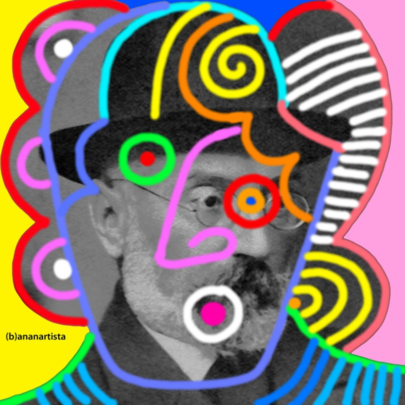 digital art portrait of the philosopher miguel de unamuno by (b)ananartista sbuff