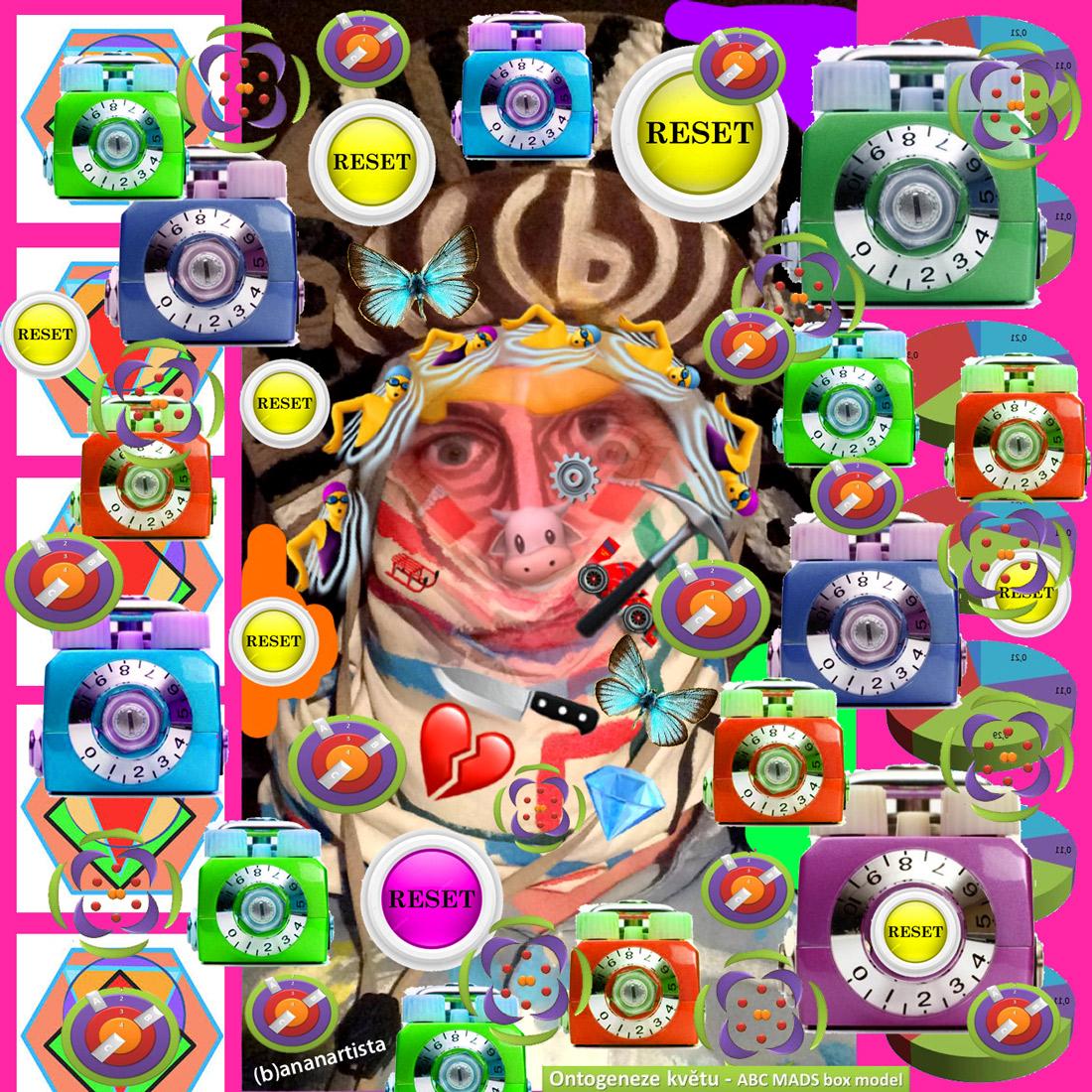 reset selfie: outsider digital art by (b)ananartista sbuff