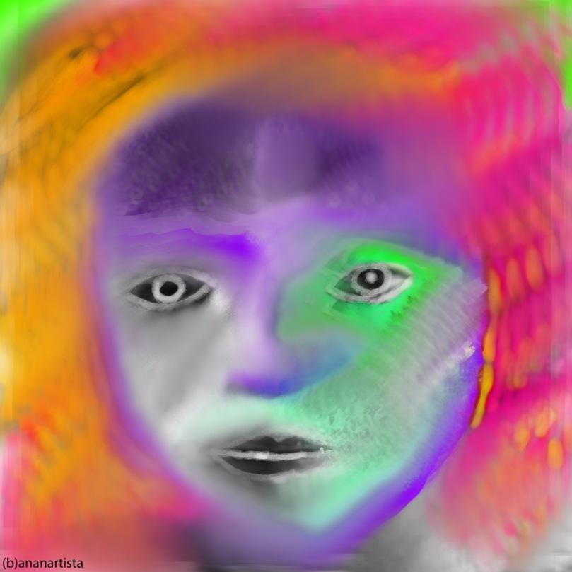 francesca woodman: digital painting portrait by (b)ananartista sbuff