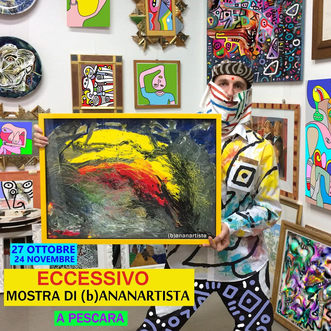 Eccessivo mostra di quadri e disegni a pescara alla galleria rosanna d'adamo il 27 ottobre 2018