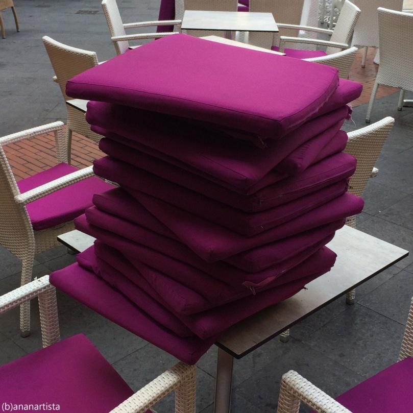 purple pillows pile: weird minimal photography art by (b)ananartista sbuff