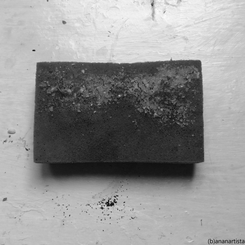 black sponge on white background: minimal suprematism art by (b)ananartista sbuff