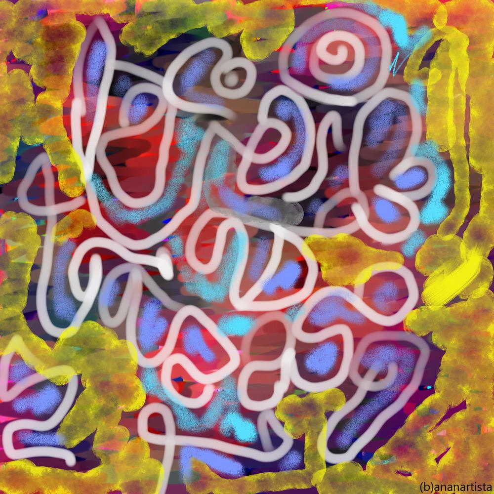 Verme Solitario: digital painting art by (b)ananartista sbuff
