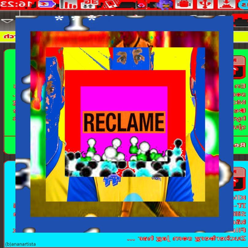 reclame: immagine stratificata con buco digital art di (b)ananartista sbuff