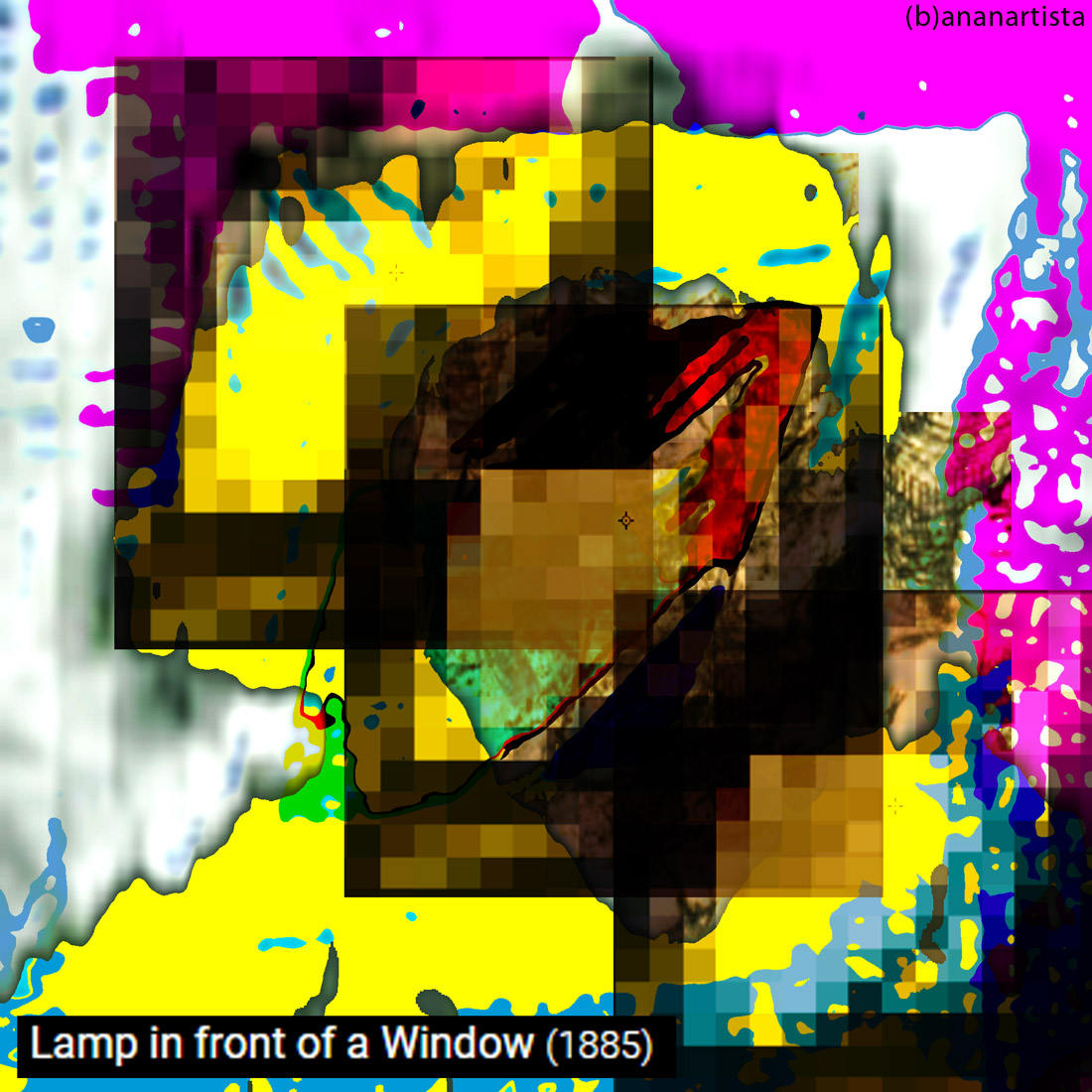 lamp in front of a window: digital painting by (b)ananartista sbuff