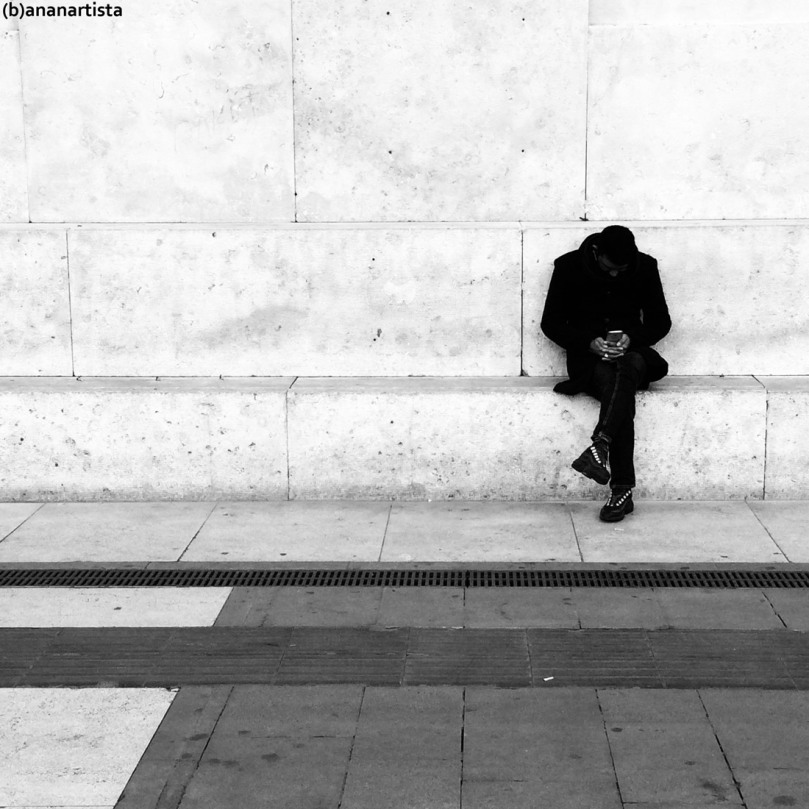 man with smartphone: black and white photography by (b)ananartista sbuff