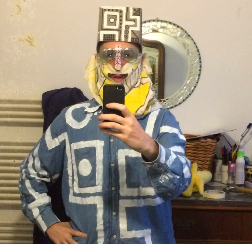 selfie allo specchio con poesia di (b)ananartista sbuff