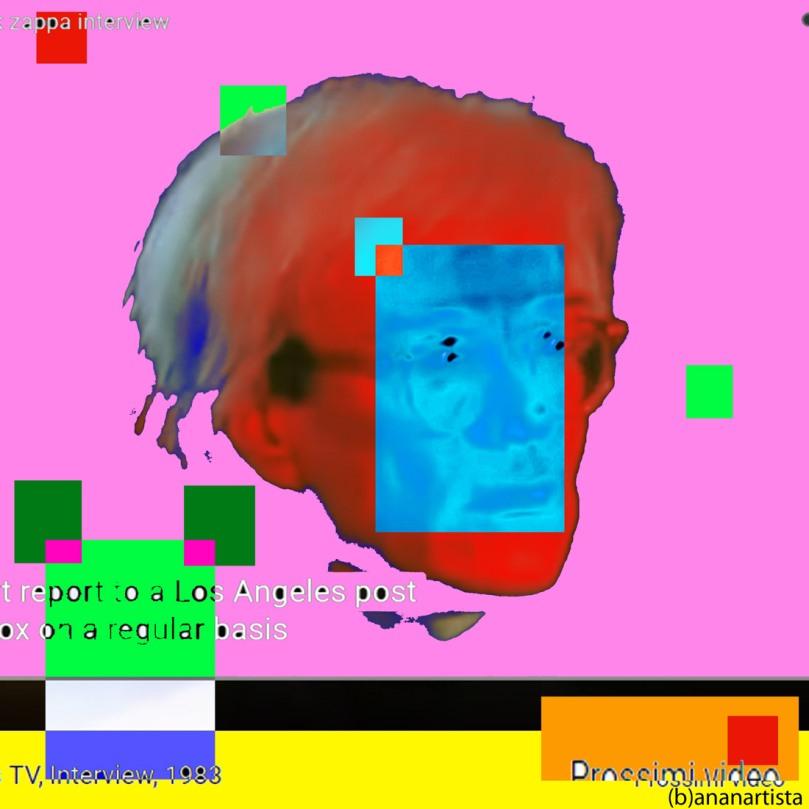 Andy Warhol and Frank Zappa: digital pop art painting by (b)ananartista sbuff
