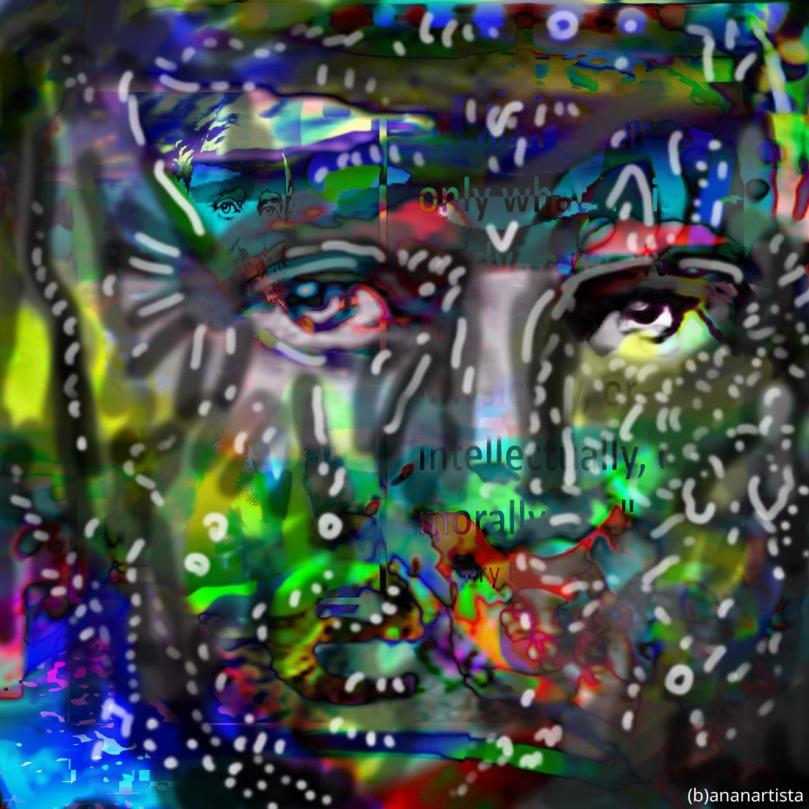 henry david thoreau: digital painting by (b)ananartista sbuff