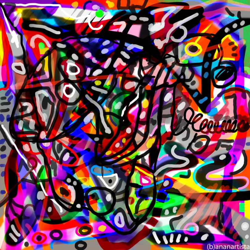 Legend: digital and abstract art by (b)ananartista sbuff