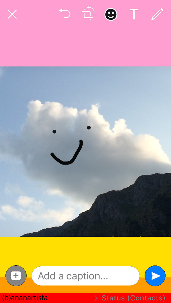 nuvola simpatica: digital art di (b)ananartista sbuff