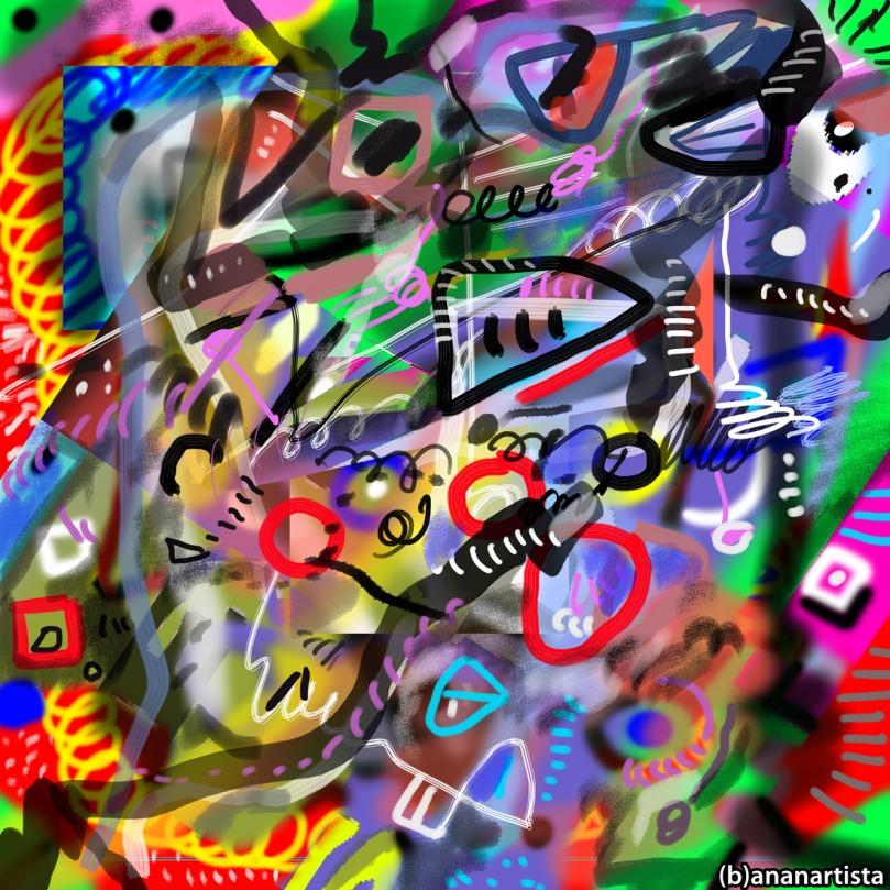 paradise: digital abstract art by (b)ananartista sbuff
