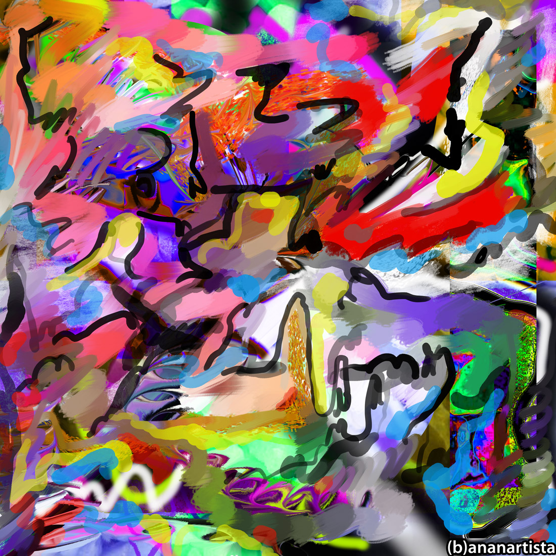 tempeste ormonali: abstract digital art by (b)ananartista sbuff