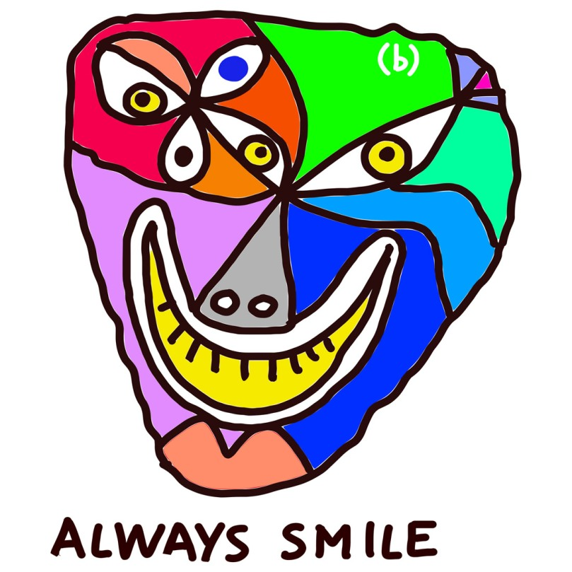 always smile: drawing by (b)ananartista sbuff