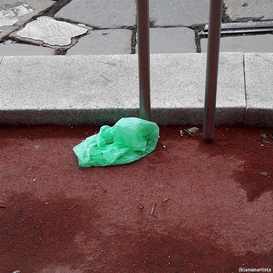 sacchetto verde: fotografia di (b)ananartista sbuff