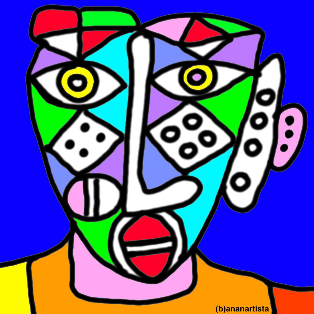 arlecchino: dipinto di (b)ananartista sbuff