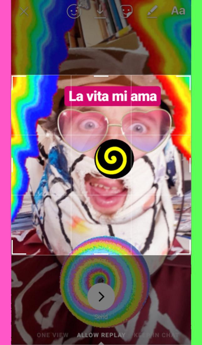 la vita mia ama: instagram stories selfie by (b)ananartista sbuff