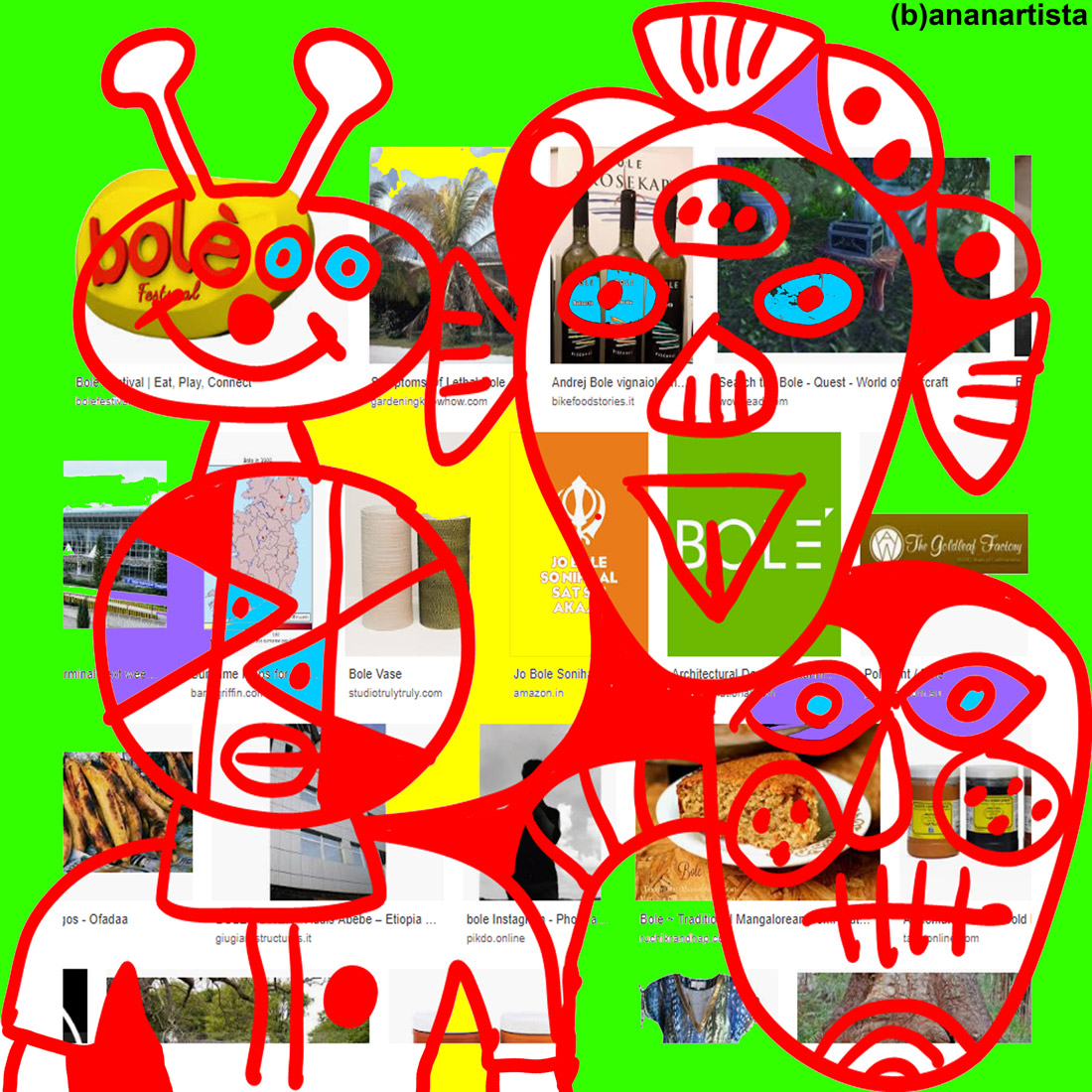 eat play connect - digital collage by (b)ananartista sbuff