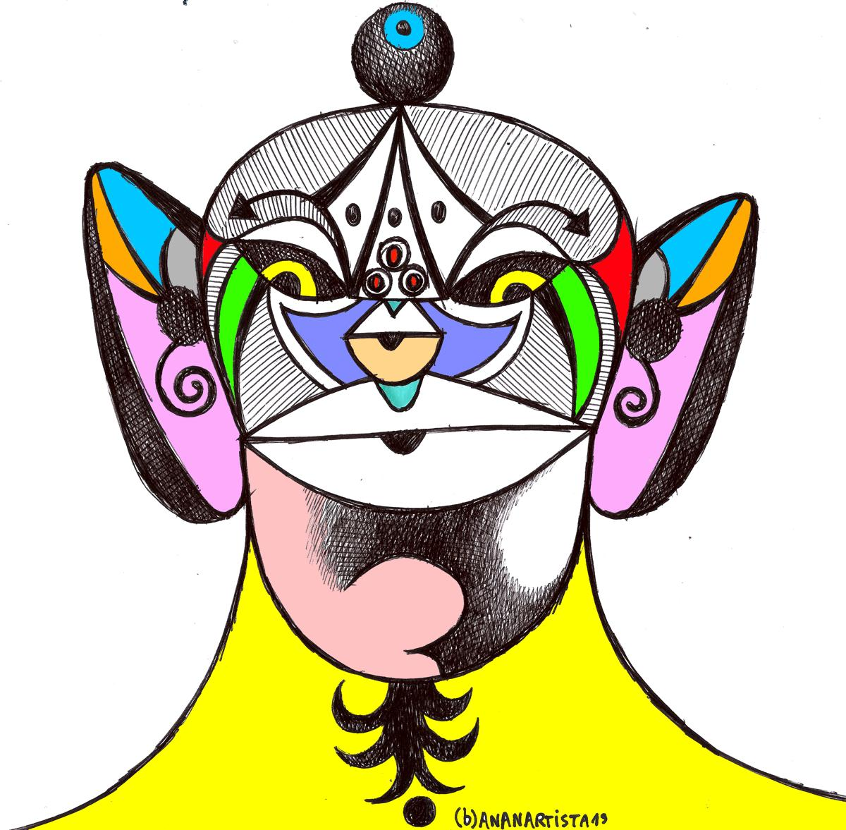 owl ganesha shaman mantra man: outsider drawing by (b)ananartista sbuff