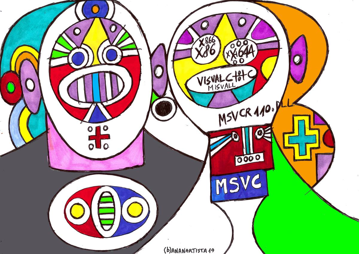 visual c++ couple : surreal drawing by (b)ananartista sbuff