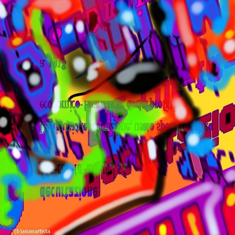 decurtazione : arte astratta di (b)ananartista sbuff