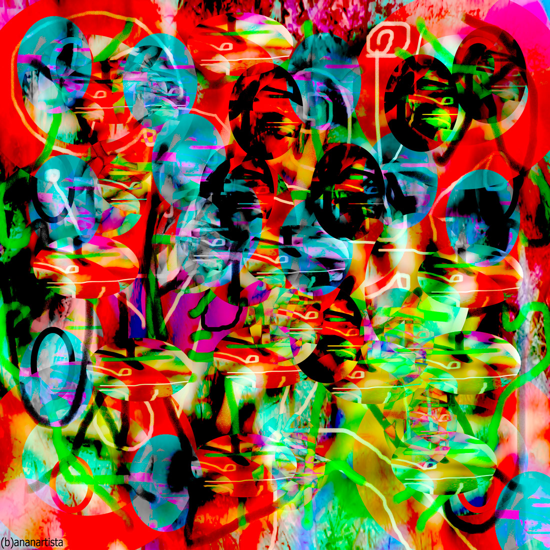 squirrel - digital abstract art by (b)ananartista sbuff