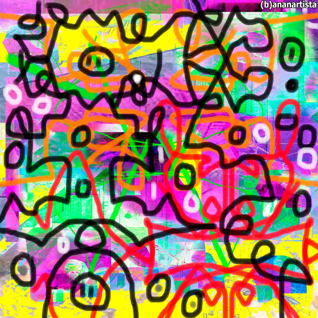 il mio codice atlantico di leonardo da vinci : arte astratta di (b)ananartista sbuffuff