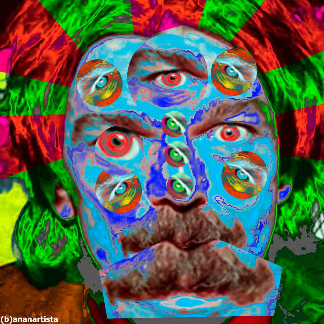 captain beefheart magic mustache babouche - digital collage pop portrait by (b)ananartista sbuff