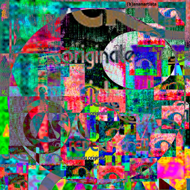 casanova arte astratta glitch di (b)ananartista sbuff