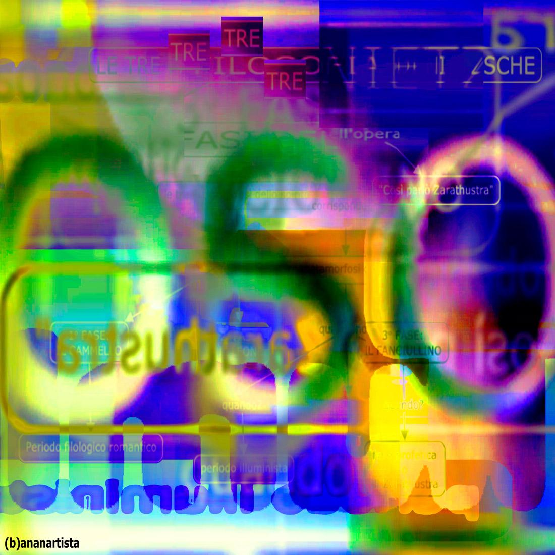 le tre fasi della filosofia di Nietzsche : collage astratto di (b)ananartista sbuff