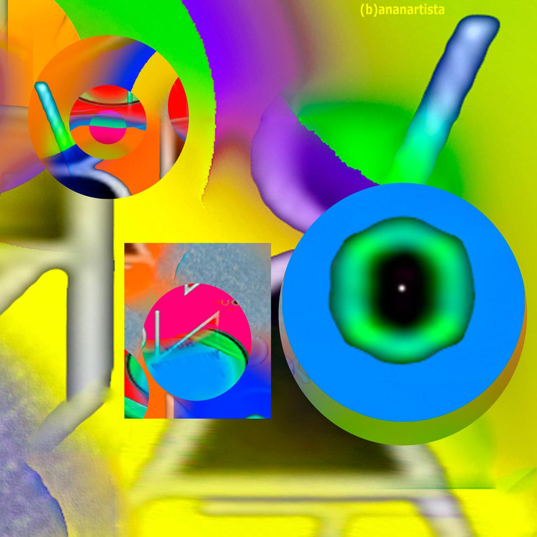 brainwashing - digital glitch abstract art by (b)ananartista sbuff