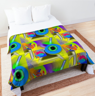 brainwashing comforter bed design by (b)ananartista on redbubble