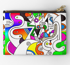 spooky human pow wow zipper pouch redbubble shop