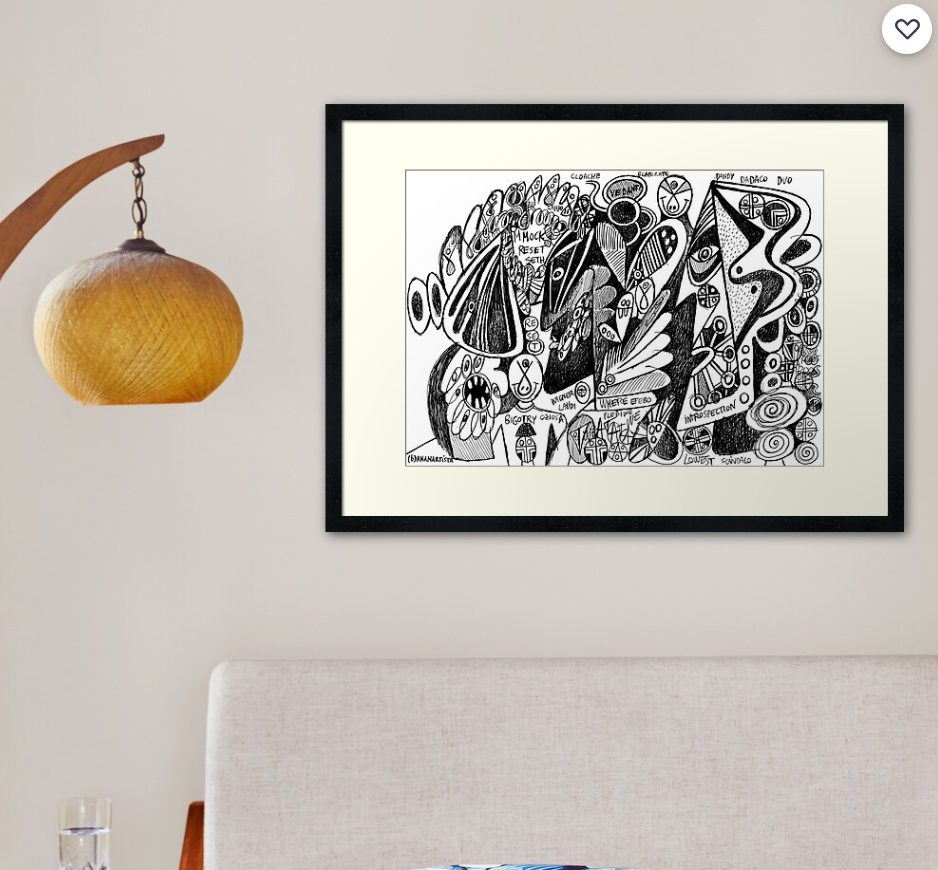 framed art print redbubble design dandy efebo introspection - artwork by (b)ananartista sbuff