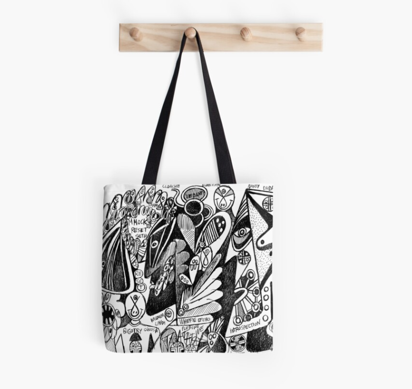 tote bag design redbubble dandy efebo introspection - artwork by (b)ananartista sbuff