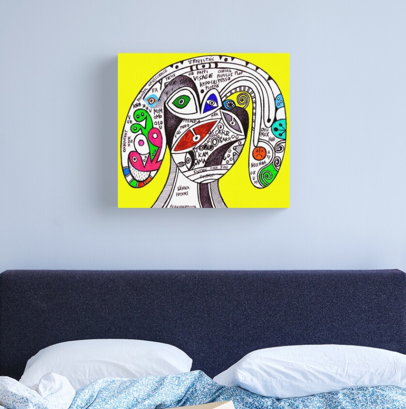 pappi visage the hypocrite visionary artwork by (b)ananartista sbuff redbubble canvas print