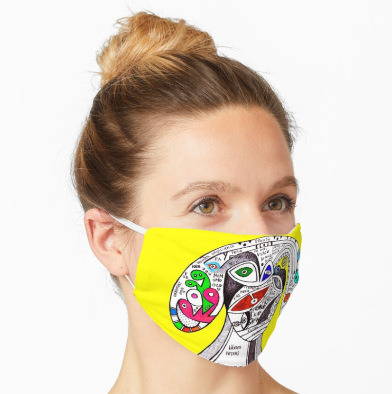 pappi visage the hypocrite visionary artwork by (b)ananartista sbuff redbubble mask mascherina shop