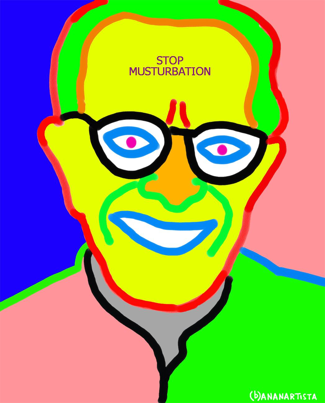 stop musturbation albert ellis portrait by (b)ananartista sbuff