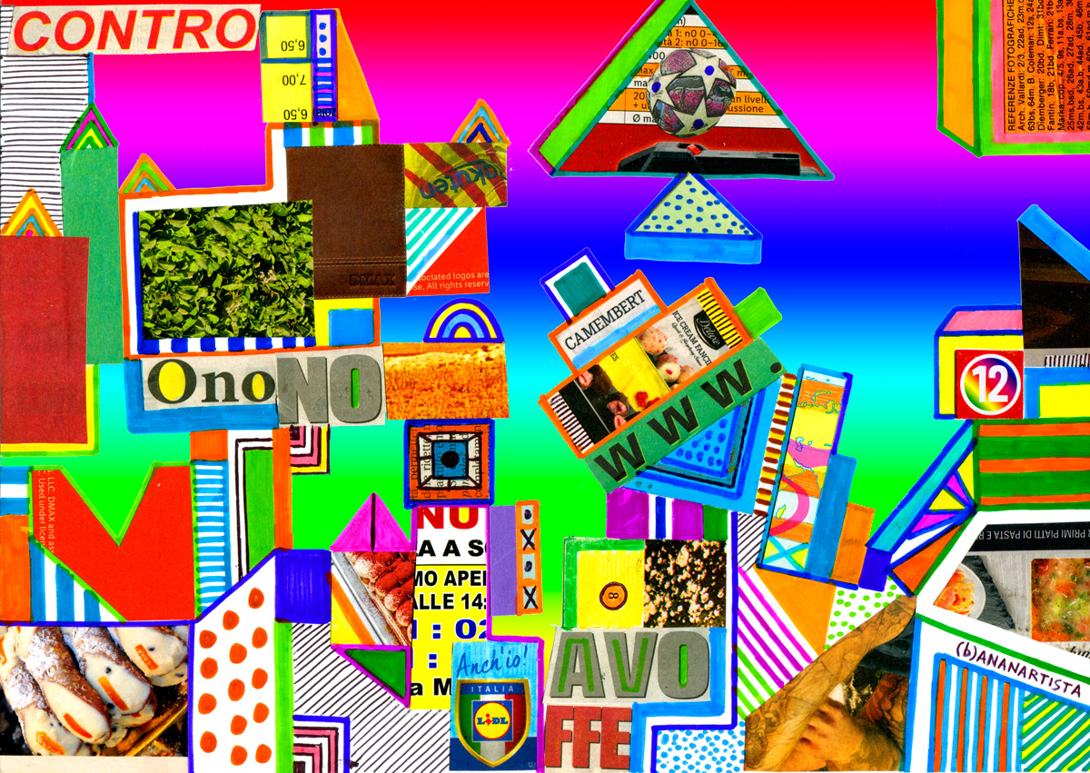 contro onono avoffe - abstract collage arte by (b)ananartista sbuff