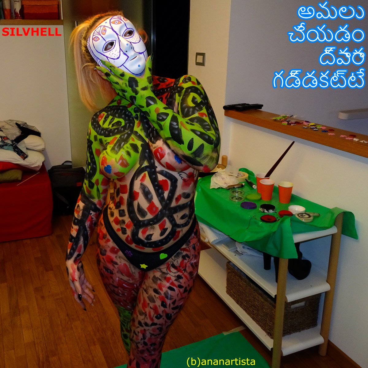 silvhell sgh suicide girl body painting by (b)ananartista sbuff