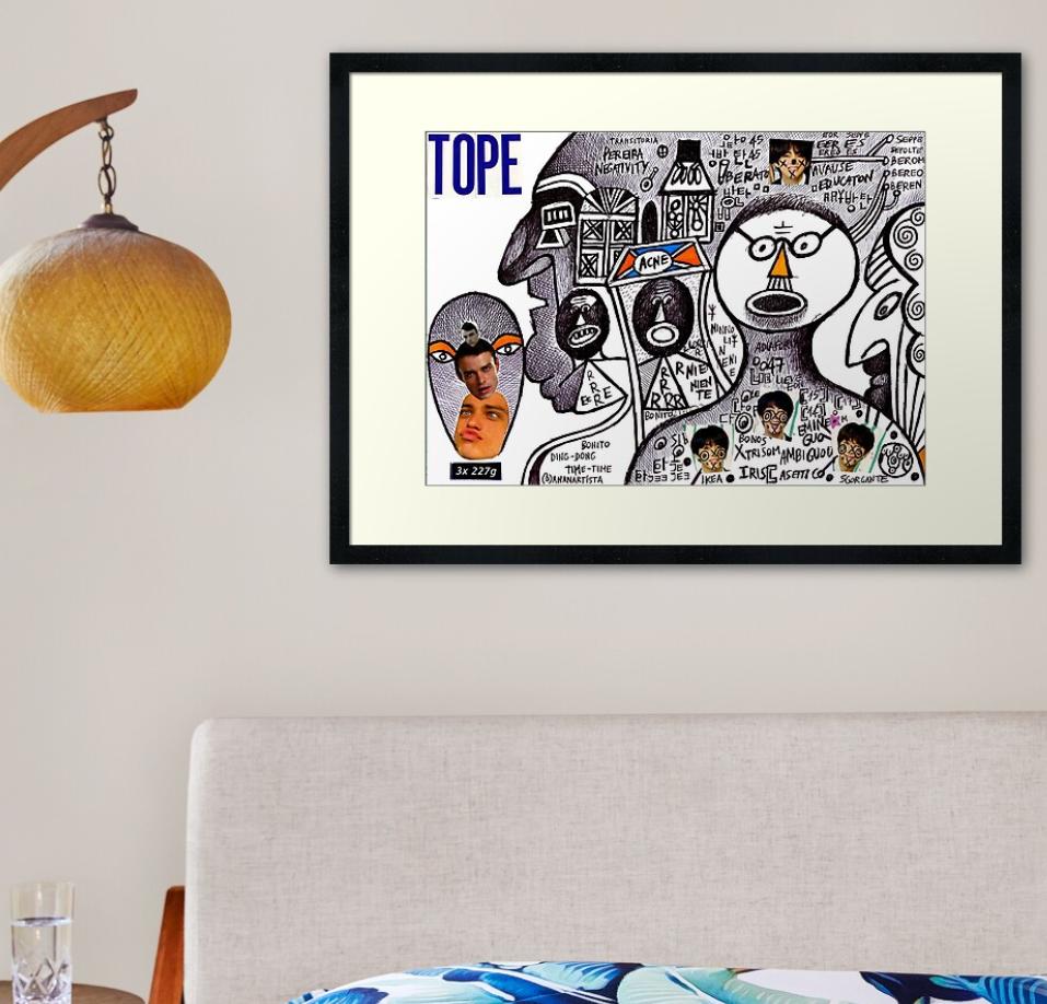 redbubble (b)ananartista tope pereira negativity acne framed art print stampa artistica con cornice shop