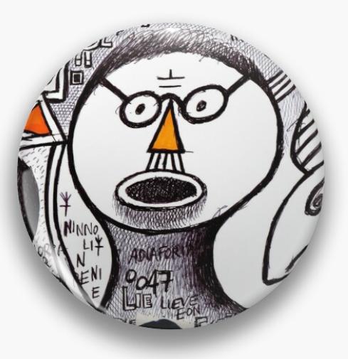 redbubble (b)ananartista tope pereira negativity acne pin spilletta shop art