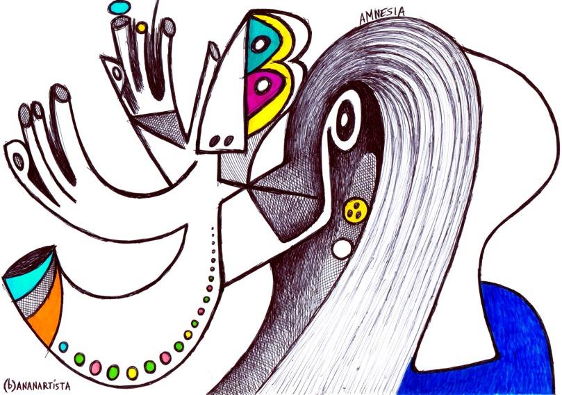amnesia surreal illustration by (b)ananartista sbuff