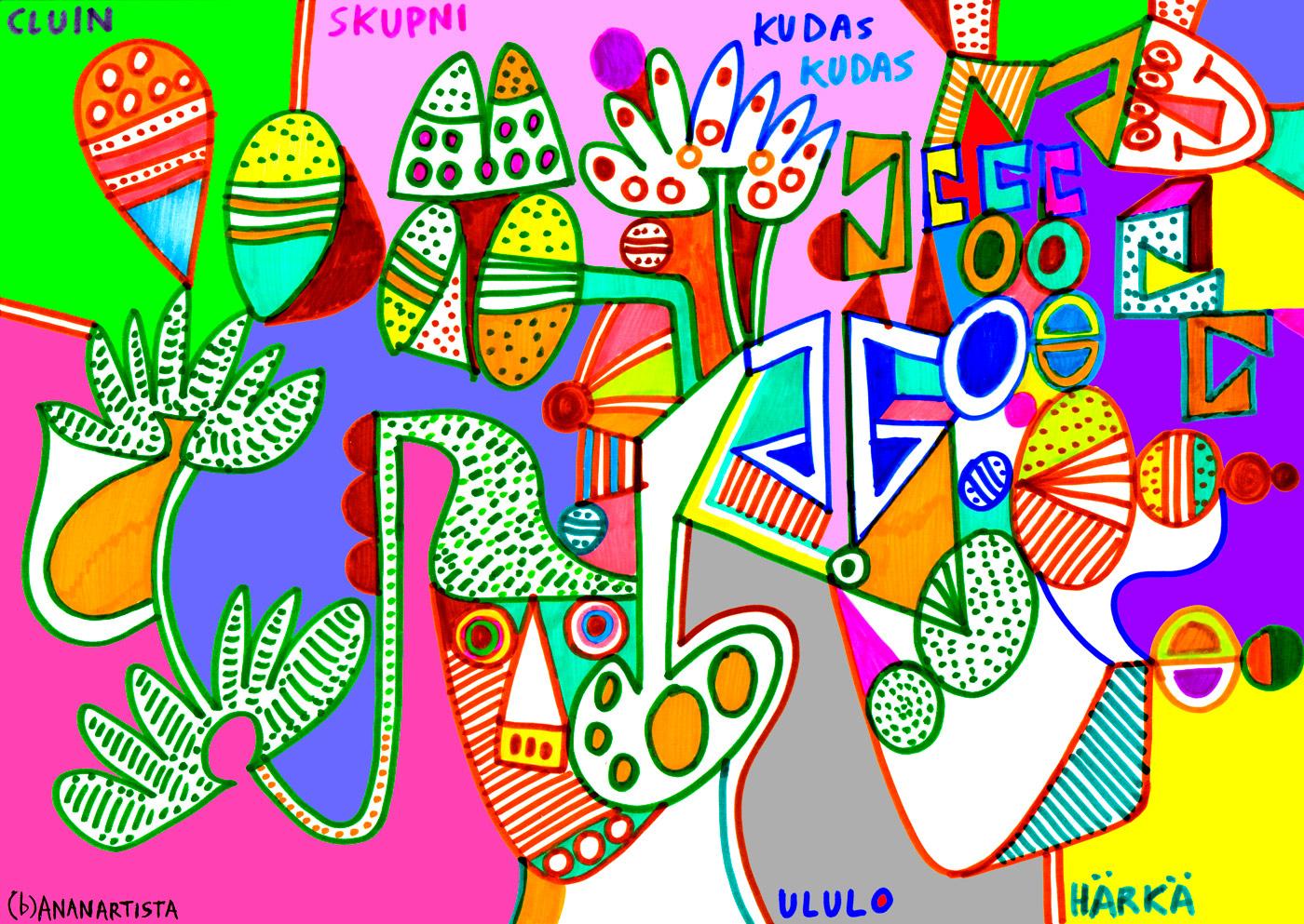 Cluin skupni kudas ululo harka (original artwork) by (b)ananartista sbuff