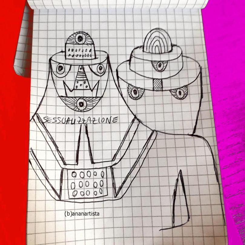 sessualizzazione corpo femminile sketch by (b)ananartista sbuff