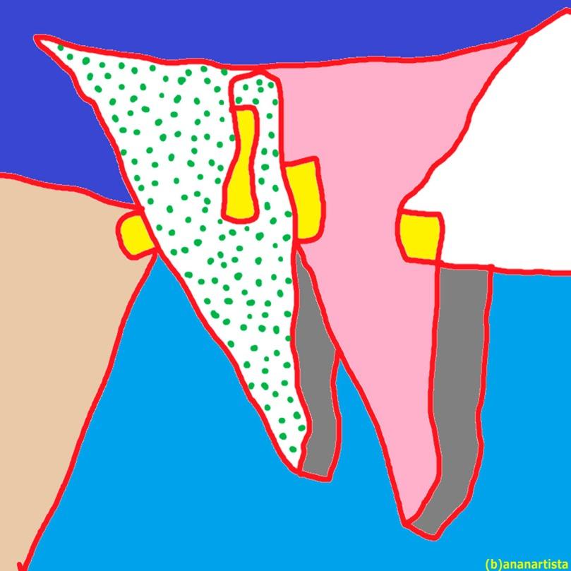 tauromachia - pittura su tela digitale di (b)ananartista sbuff
