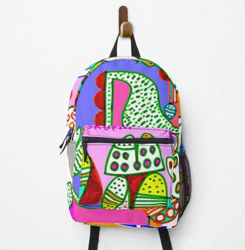 redbubble (b)ananartista cluin skupni kuda ululo harka original artwork backpack zaino shop