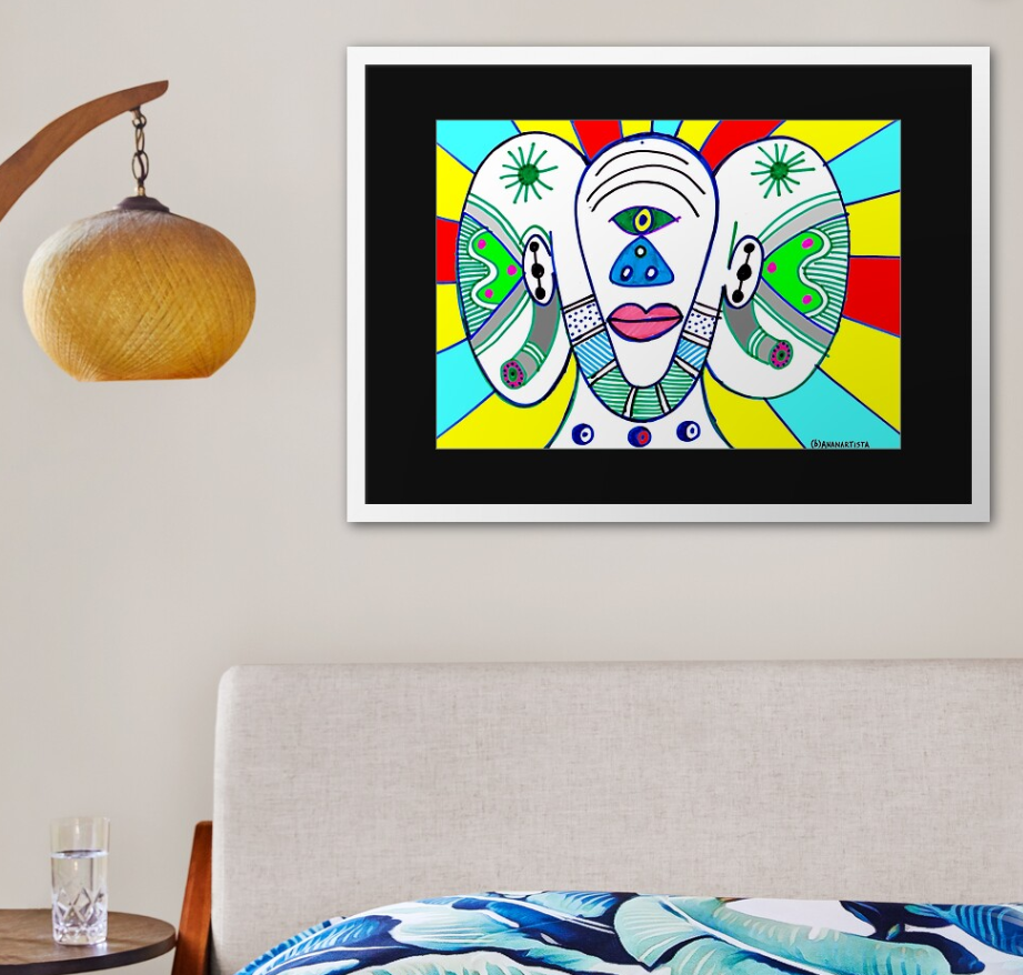redbubble (b)ananartista the cyclops framed art print box frame shop