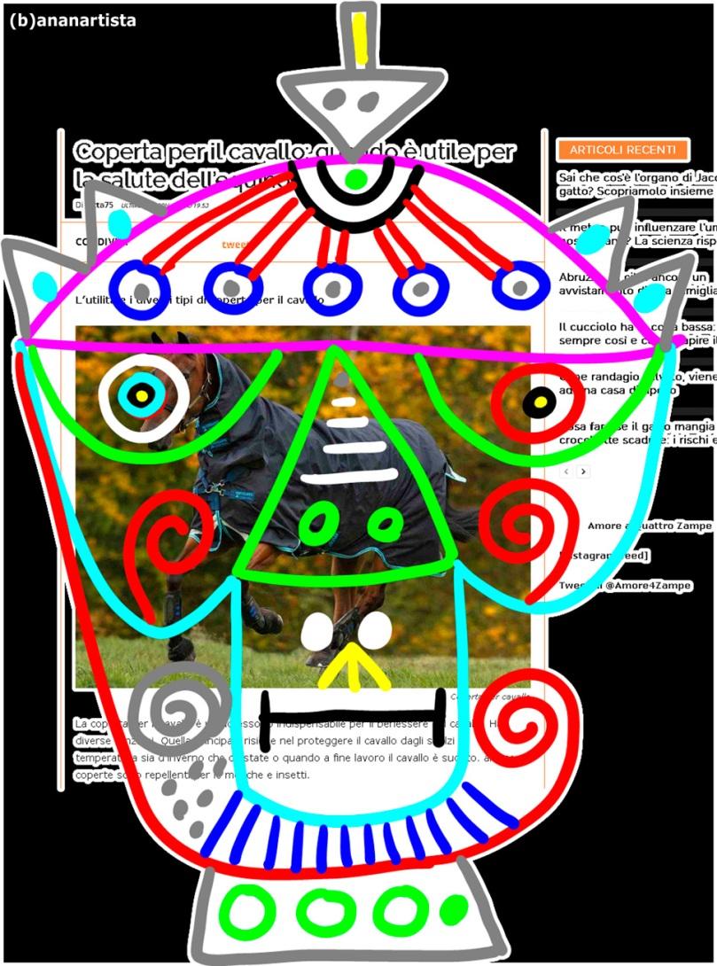 coperta per il cavallo : disegno di (b)ananartista sbuff